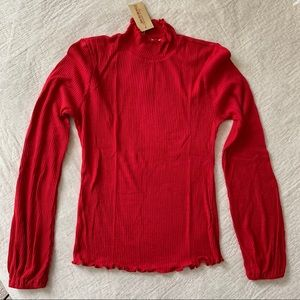 Red American Rag Long-sleeve Top
